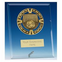 Varsity Football Glass Award Plaque 6 Inch (15cm) : New 2020