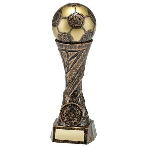 Bronze Gold Weighted Plastic Football Column Trophy 6.25in - New 2019