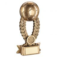 Bronze Gold Football On Wreath Riser with Ribbon Base Trophy Award 5.75in : New 2020