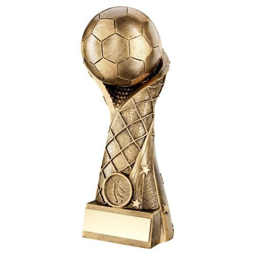 Bronze Gold Football On Star Net Riser Trophy 11in - New 2019