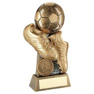 Bronze Gold Pewter Flatback Football and Boots On Riser Trophy Award 5in : New 2020