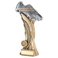 Bronze Pewter Silver Football Boot On Star Column Trophy Award Parents Player 11in : New 2020