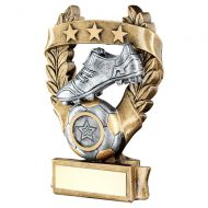 Bronze Pewter Gold Football 3 Star Wreath Award Trophy 5in - New 2019