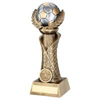 Bronze Pewter Gold Football with Wreath On Net Column Trophy Award 12.5in : New 2020