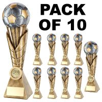 Pack 10 Football Trophies Resin Awards 7in Job Lot FREE Engraving NEW 2019