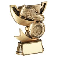 Bronze Gold Presentation Cup Range For Football Trophy Award 5in : New 2020