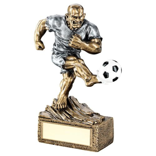 Bronze Pewter Football Beasts Figure Trophy 6.75in - New 2019