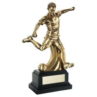 Antiqueique Gold Premium Male Football Figure On Black Base Trophy 12in : New 2020