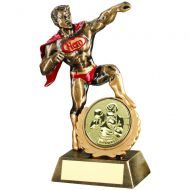 Bronze Gold Red Resin Generic Fun Hero Award with Boxing Insert 7.25in : New 2020