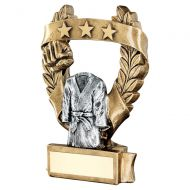 Bronze Pewter Gold Martial Arts 3 Star Wreath Award Trophy 6.25in : New 2019