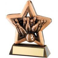 Bronze/Gold Ten Pin Mini Star Trophy 3.75in
