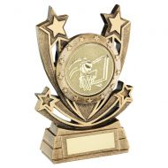 Bronze Gold Shooting Star Series with Basketball Insert Trophy Award 6in : New 2020