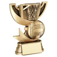 Bronze Gold Presentation Cup Range For Netball Trophy Award 5in : New 2020