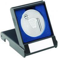 Black Plastic Box Netball Silver 3.5in