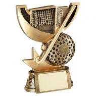 Bronze Gold Presentation Cup Range For Hockey Trophy Award 4.25in : New 2020