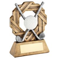 Bronze Pewter White Golf Octo Ribbon Series Trophy Award 8.5in : New 2020