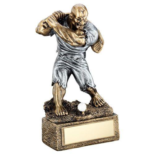 Bronze Pewter Golf Beasts Figure Trophy 6.75in - New 2019