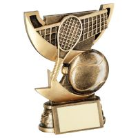 Bronze Gold Presentation Cup Range For Tennis Trophy Award 5in : New 2020