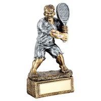 Bronze Pewter Tennis Beasts Figure Trophy 6.75in - New 2019
