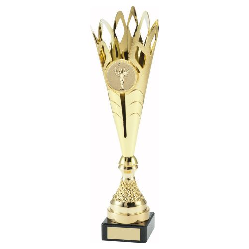 Gold Plastic Spikey Trophy Award 14.5in : New 2020