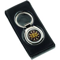 Darts 180 Metal Keyring Round 1.25in