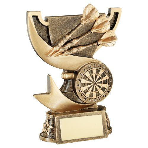 Bronze Gold Presentation Cup Range For Darts Trophy Award 6in : New 2020