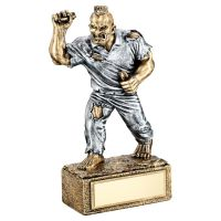 Bronze Pewter Darts Beasts Figure Trophy 6.75in - New 2019