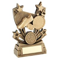 Bronze Gold Shooting Star Series Athletics Trophy Award 5in : New 2020