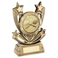 Bronze Gold Shooting Star Series with Squash Insert Trophy Award 6in : New 2020
