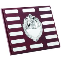 Rosewood Plaque Chrome Fronts 14 Plates 8 X 10in