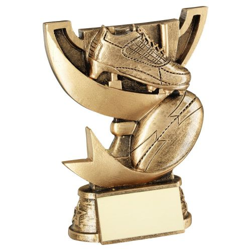 Bronze Gold Presentation Cup Range For Rugby Trophy Award 5in : New 2020