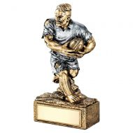 Bronze Pewter Rugby Beasts Figure Trophy 6.75in - New 2019