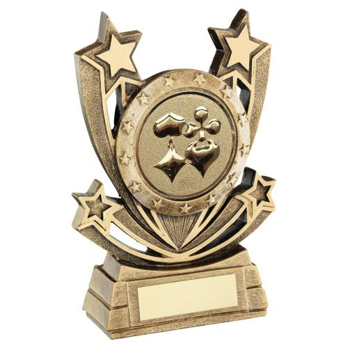 Bronze Gold Shooting Star Series with Cards Insert Trophy Award 5in : New 2020