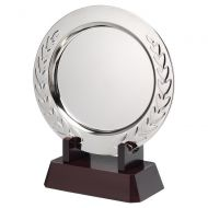 Silver Plated Laurel Salver On Wooden Stand 286mm : New 2020
