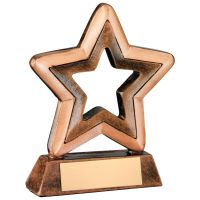 Bronze Gold Resin Generic Mini Star Trophy 4.25in