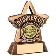 Bronze Gold Resin Runner Up Mini Star Trophy 3.75in