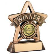 Bronze Gold Resin Winner Mini Star Trophy 4.25in