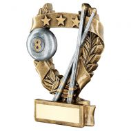 Bronze Pewter Gold Pool Snooker 3 Star Wreath Award Trophy 5in : New 2019
