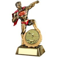 Brz Gold Red Resin Generic and Hero and Award With Pool Snooker Insert - 7.25in