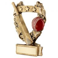 Bronze Gold Red Cricket 3 Star Wreath Award Trophy 5in : New 2019