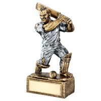 Bronze Pewter Cricket Beasts Figure Trophy 6.75in - New 2019