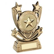 Bronze Gold Shooting Star Series Generic Trophy Award 5in : New 2020