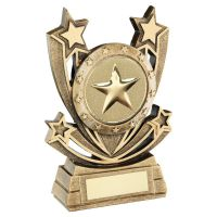 Bronze Gold Shooting Star Series Generic Trophy Award 6in : New 2020