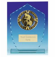 Varsity Cycling Glass Award Trophy 7 1/8 Inch (18cm) : New 2020