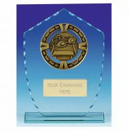 Varsity Swimming Glass Award Plaque 7 1/8 Inch (18cm) : New 2020
