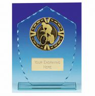 Varsity Cycling Glass Award Trophy 7 7/8 Inch (20cm) : New 2020