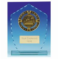 Varsity Swimming Glass Award Plaque 7 7/8 Inch (20cm) : New 2020