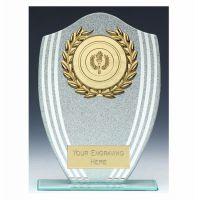 Sparkle Shield Trophy Award 7.25 Inch (18.5cm) - New 2019