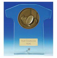 Elite Shirt Glass Award Rugby 5 Inch (12.5cm) : New 2020