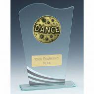 Richmond Dance Glass Award 7.25 Inch (18.5cm) : New 2020